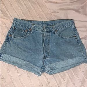 Vintage Levi 501 button fly shorts